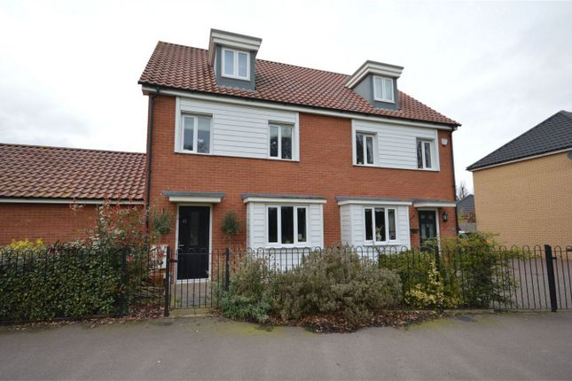 Thumbnail Semi-detached house for sale in Turnberry, Norwich