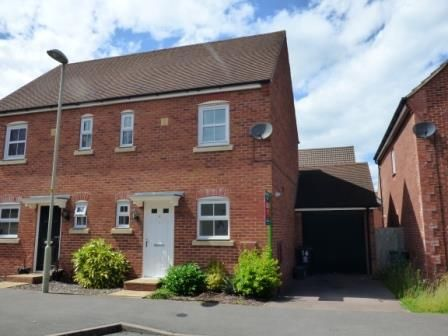 Thumbnail Semi-detached house to rent in Wittering Way Kingsway, Quedgeley, Gloucester