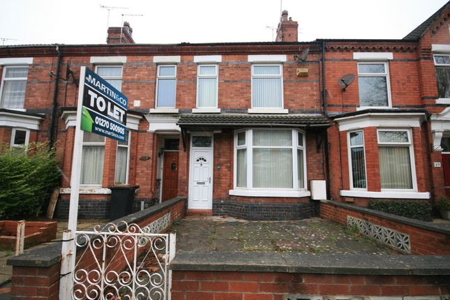 4 bed terraced house to rent in Ruskin Road, Crewe