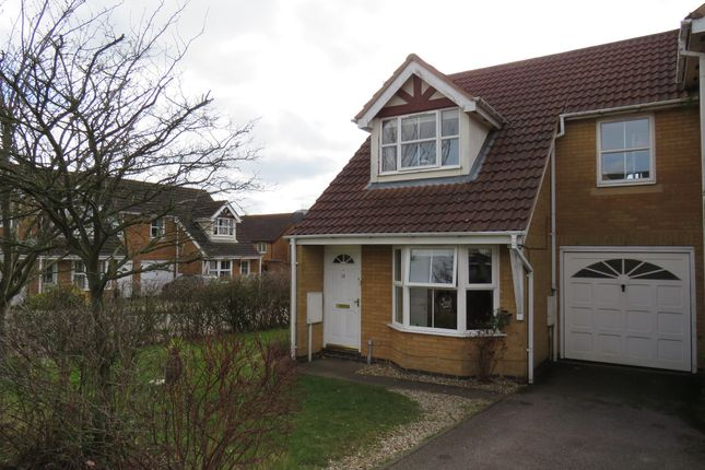 Thumbnail Semi-detached house for sale in Lordswood Close, Wootton, Northampton