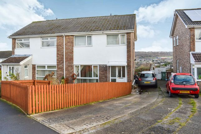 Thumbnail Semi-detached house for sale in Rhosili Road, Cefn Hengoed, Hengoed