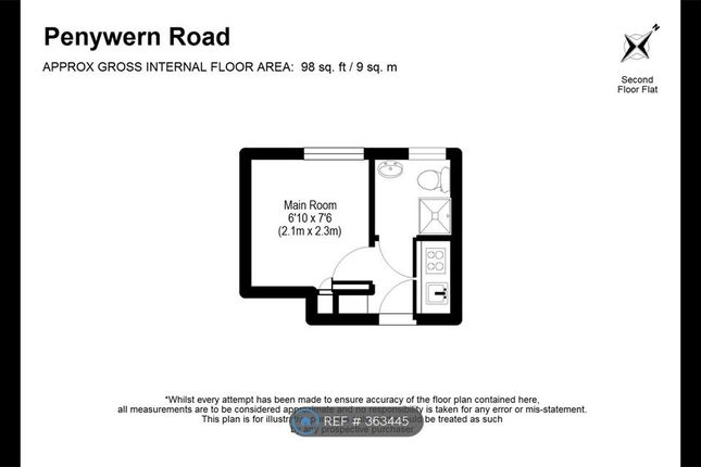 Floor Layout of Penywern Rd, London SW5