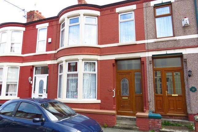 Thumbnail Terraced house for sale in Barrington Road, Wallasey
