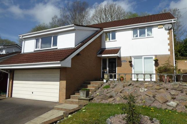 Thumbnail Detached house for sale in Dranllwyn Close, Machen, Caerphilly