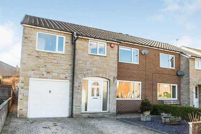 Thumbnail Semi-detached house for sale in Westfield Gardens, Halifax, West Yorkshire