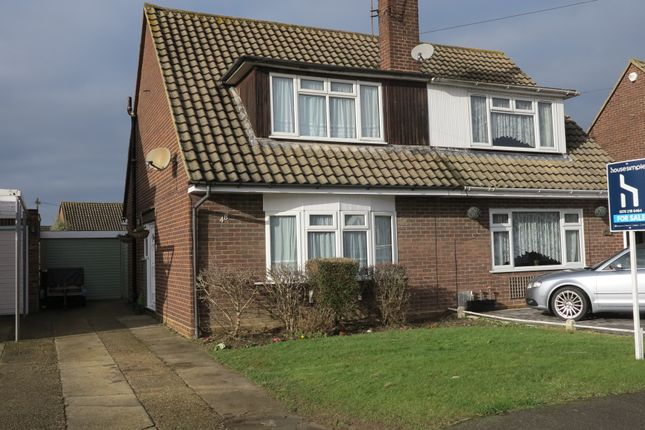 Thumbnail Semi-detached house for sale in Eastbury Avenue, Ashingdon, Rochford