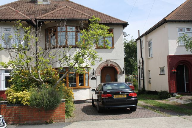 Thumbnail Semi-detached house for sale in Hall Crescent, Hadleigh, Benfleet