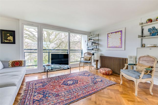Thumbnail Flat for sale in Queens Court, Queens Ride, London