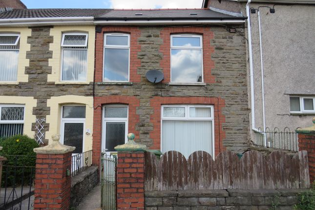 Thumbnail Terraced house for sale in Waunborfa Road, Cefn Fforest, Blackwood