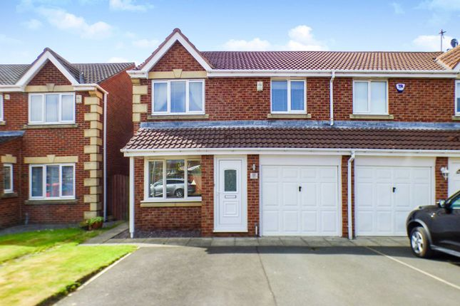 Thumbnail Semi-detached house for sale in Lapford Drive, Cramlington