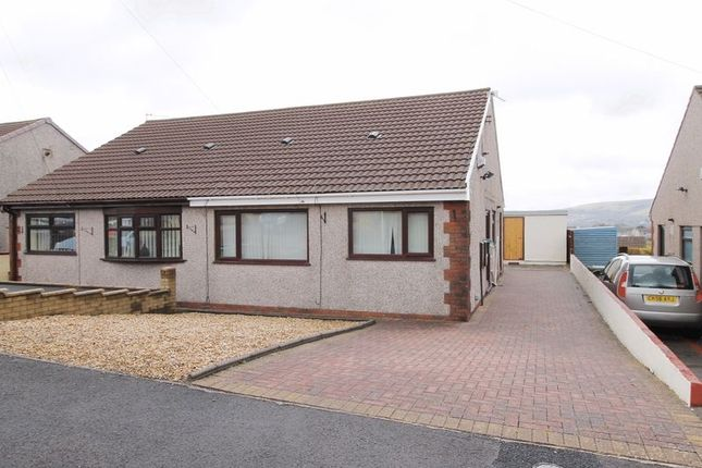 Thumbnail Semi-detached bungalow to rent in Clos Powys, Beddau