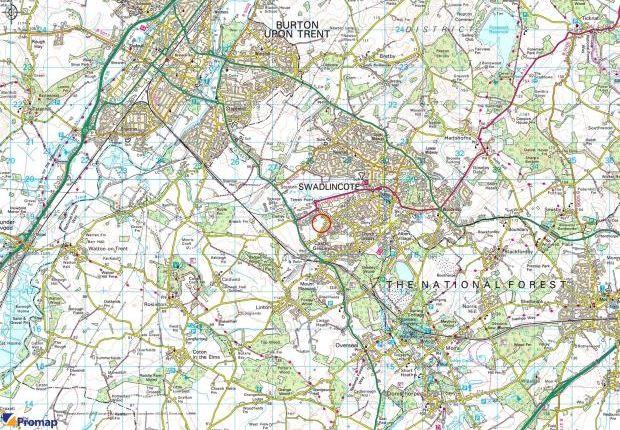 Location Plan of Castle Gresley, Swadlincote, Derbyshire DE11