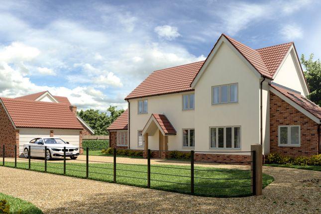 Thumbnail Detached house for sale in Heath Loke, Poringland, Norwich
