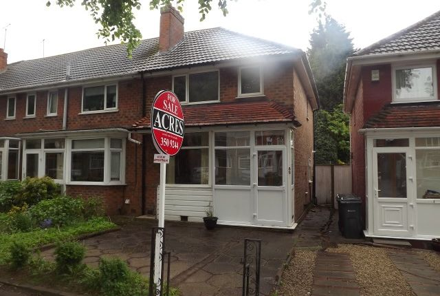 Thumbnail End terrace house for sale in Birdbrook Road, Great Barr, Birmingham