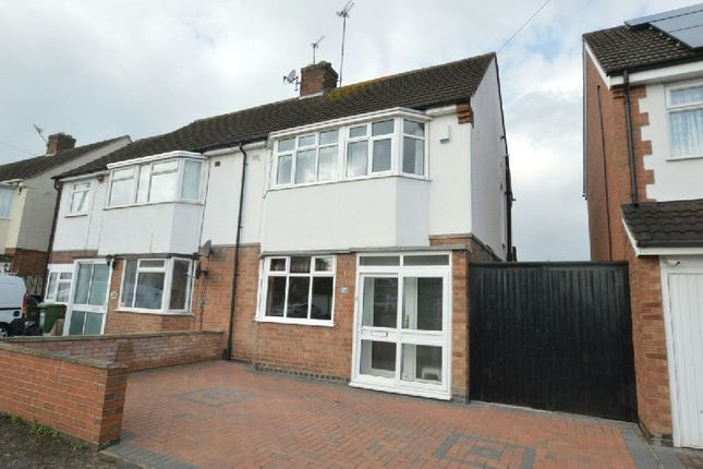 Thumbnail Semi-detached house for sale in Hazel Drive, Leicester