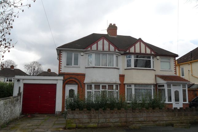 Thumbnail Semi-detached house to rent in Pendragon Rd, Perry Barr, Birmingham