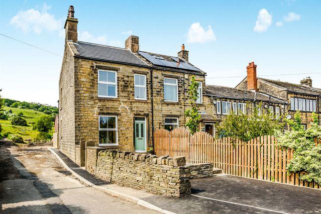 Thumbnail End terrace house for sale in Leymoor Road, Golcar, Huddersfield