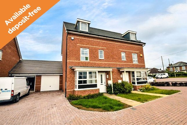 Thumbnail Town house to rent in Bamber Close, West End, Southampton