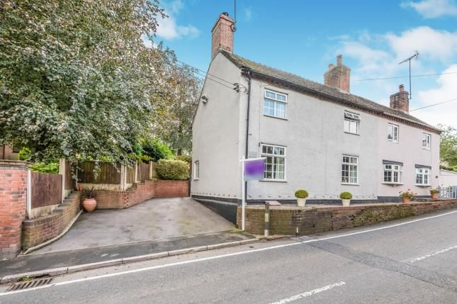 Thumbnail Semi-detached house for sale in Sandon Road, Hilderstone, Stone, Staffordshire