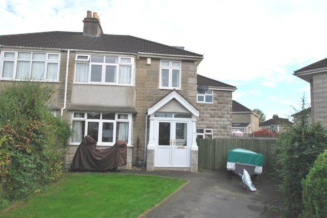 Thumbnail Semi-detached house for sale in Homelea Park West, Newbridge, Bath