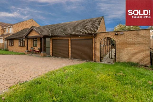 Thumbnail Detached bungalow for sale in Bedford Close, Barton Seagrave, Kettering