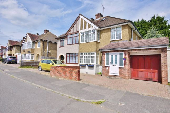 Thumbnail Semi-detached house for sale in Broomwood Gardens, Pilgrims Hatch, Brentwood, Essex