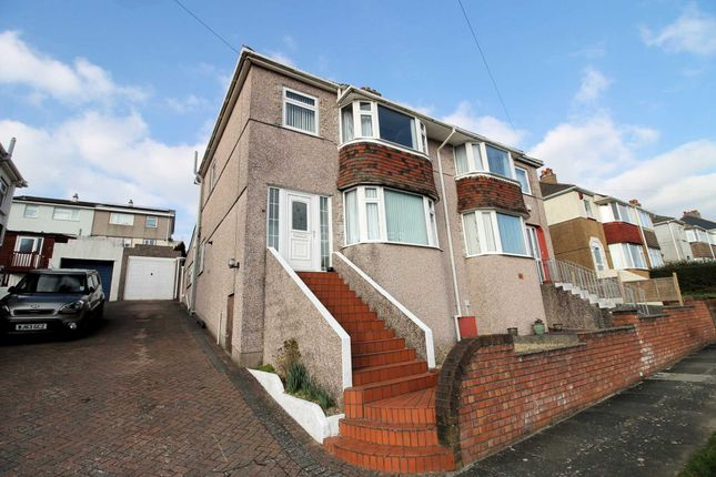 Thumbnail Semi-detached house for sale in Darwin Crescent, Crabtree, Plymouth
