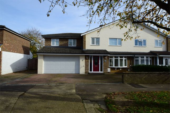 Thumbnail Semi-detached house for sale in Wood Drive, Stevenage, Hertfordshire
