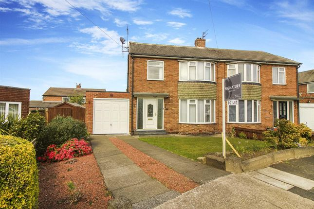 Thumbnail Semi-detached house to rent in Corbridge Avenue, Wideopen, Newcastle Upon Tyne