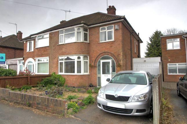 Thumbnail Semi-detached house for sale in Brockenhurst Drive, Braunstone, Leicester