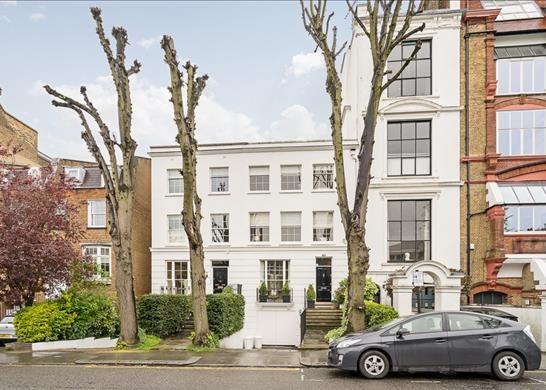 Exterior of Bedford Gardens, Kensington, London W8
