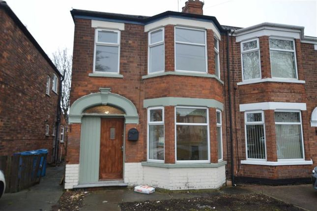 Thumbnail End terrace house to rent in Hall Road, Hull, East Yorkshire