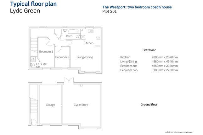 2 bedroom maisonette for sale in Chilver House, Emersons Green, Bristol