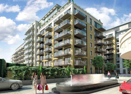 Thumbnail Flat for sale in Brunswick House, Parrs Way, Fulham, London
