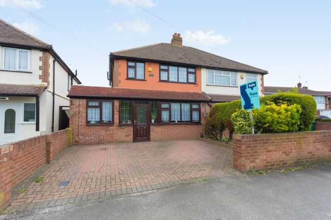 Thumbnail Semi-detached house for sale in Town Lane, Stanwell, Staines