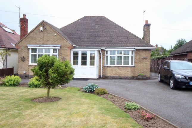 Thumbnail Detached bungalow for sale in Kirkby Road, Barwell, Leicester