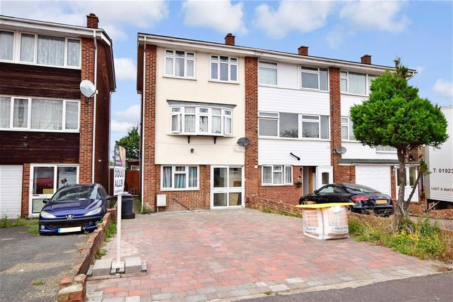 Thumbnail End terrace house for sale in Liphook Close, Hornchurch, Essex
