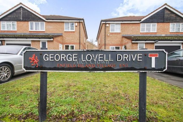 Thumbnail Semi-detached house for sale in George Lovell Drive, Enfield