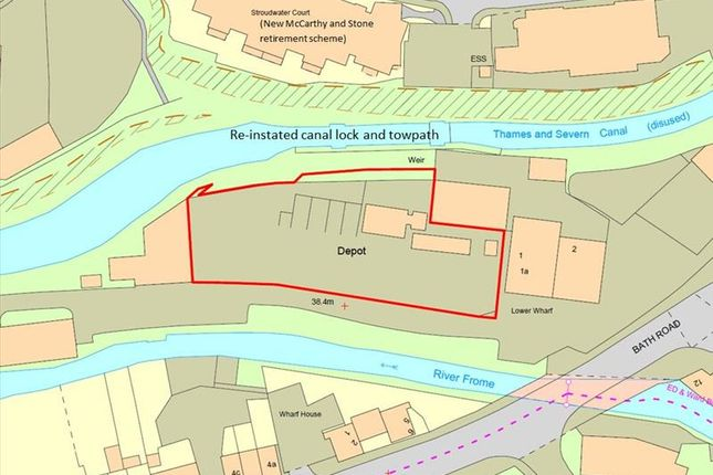 Thumbnail Commercial property for sale in Lower Wharf Development Site, Bath Road, Wallbridge, Stroud