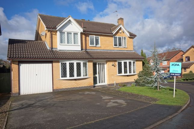 Thumbnail Detached house for sale in Carpenters Close, Glenfield, Leicester
