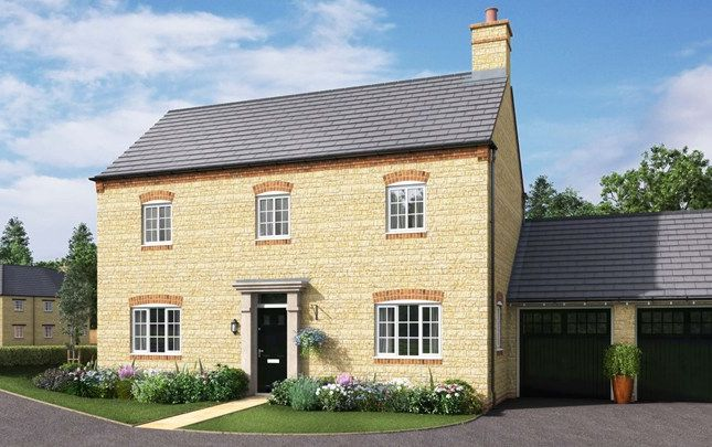 Thumbnail Detached house for sale in The Winster, Newport Pagnell Road, Wootton Fields, Northamptonshire
