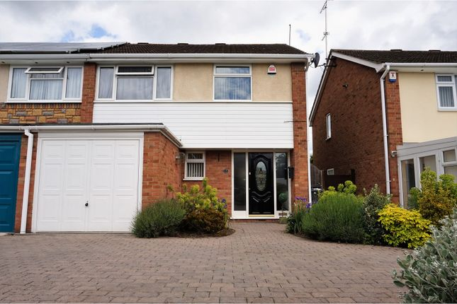 Thumbnail Semi-detached house for sale in Combe Close, Leicester