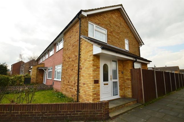 Thumbnail End terrace house to rent in Leander Drive, Gravesend
