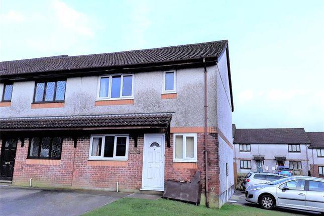 Thumbnail End terrace house to rent in Lamorna Parc, Callington, Cornwall