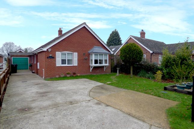 Thumbnail Detached bungalow for sale in Station Road, Aslacton, Norwich
