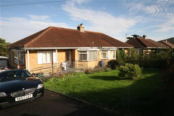 Thumbnail Bungalow for sale in Warminster Road, Bathampton, Bath
