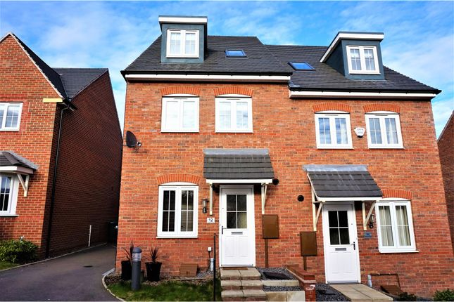 Thumbnail Semi-detached house for sale in Glasgow Close, Church Gresley, Swadlincote