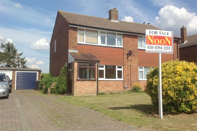 Thumbnail Semi-detached house to rent in Poplar Crescent, West Ewell, Epsom