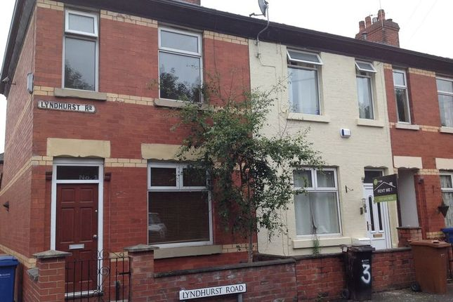 Thumbnail End terrace house to rent in Lyndhurst Road, North Reddish, Stockport