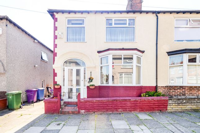 Thumbnail Semi-detached house for sale in Grantley Road, Wavertree, Liverpool